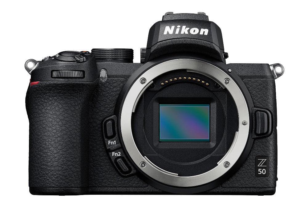 Nikon Z50 frontal sin lente
