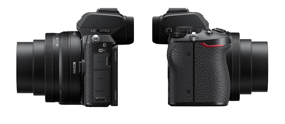 Vistas laterales Nikon Z50